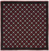 Gucci black GG diamond wool shawl