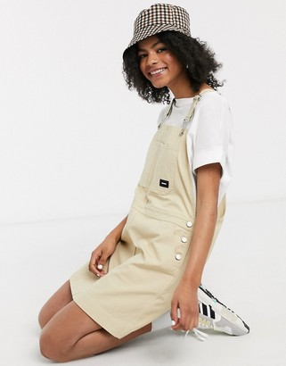 Dr. Denim Michigan worker dungaree dress in beige