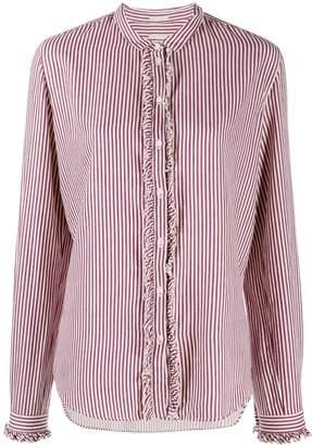 Massimo Alba striped collarless shirt
