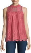 Miss Chievous Lace Tank Top-Juniors