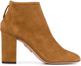 Aquazzura Brown Downtown Ankle Boots - women - Leather/Suede - 35