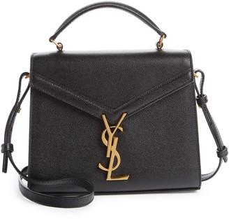 Saint Laurent Mini Cassandra Leather Top Handle Bag
