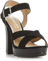 Head Over Heels Miya Cross Over Platform Sandals