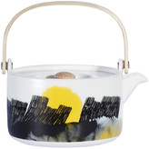 Marimekko Oiva Teapot - White/Black/Yellow