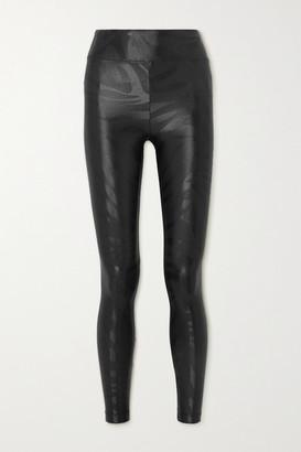 Koral Lustrous Printed Stretch Leggings - Black
