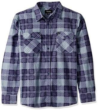 Brixton Men's Bowery Standard FIT Light Weight Long Sleeve Flannel Shirt