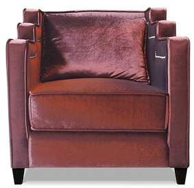 My Chic Nest Abbey Armchair My Chic Nest Body Fabric: Bella Black, Leg Color: Brown Mahogany