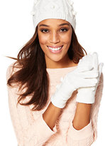 New York & Co. Pom-Pom Cable-Knit Gloves