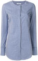 Dondup checked collarless shirt - women - Cotton - 42
