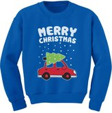 TeeStars - Merry Christmas Xmas Tree on Car Cute Xmas Toddler/Kids Sweatshirts