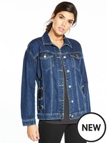 Very Eyelet Detail Denim Jacket