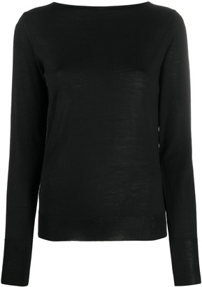 Nuur Fine-Knit Long Sleeve Top