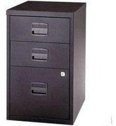 Bisley Filing Cabinet 3 Drawers A4 H672xW413xD400mm Steel Black