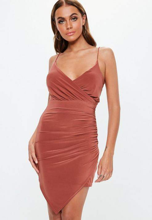 ba2b7beca775 Slinky Ruched Dress - ShopStyle