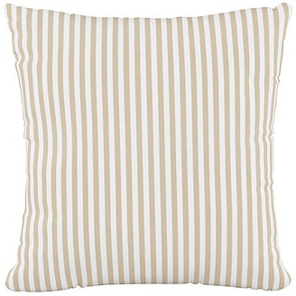 One Kings Lane Further 20x20 Pillow - Natural Stripe