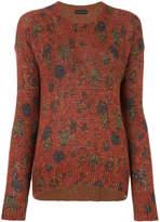 Etro patterned crew neck sweater