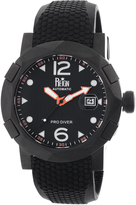 Reign Tudor Collection REIRN1206 Men's Stainless Steel Watch with Silicone Strap