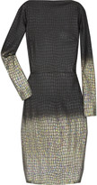 RM by Roland Mouret Kharif alligator print wool-blend dress