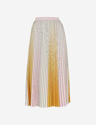 Ted Baker Noviia pleated woven midi skirt