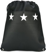 Givenchy star print drawstring backpack - men - Calf Leather - One Size