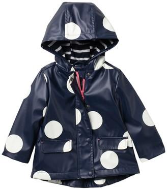 Joe Fresh Water Resistant Print Raincoat (Baby Girls)