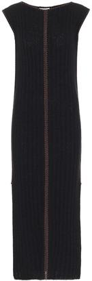 Jil Sander Ribbed-knit silk midi dress