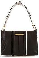 Gianni Bini Trapunto Shoulder Bag with Flower-Appliqued Strap