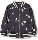 Gap Floral satin flight jacket