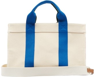 Rue De Verneuil - Lego Medium Canvas Tote Bag - Blue Multi