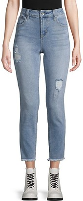 Max Studio High-Rise Destroyed Skinny Crop Jeans