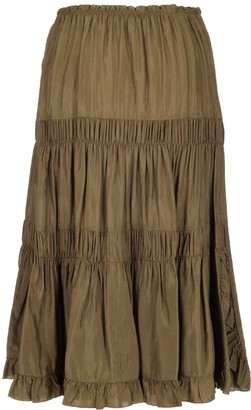 See by Chloe Rouched Tiered Skirt