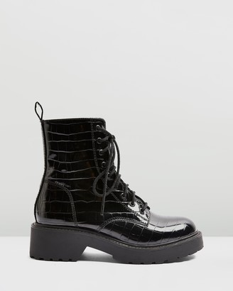 Topshop Kacy Low Lace-Up Boots