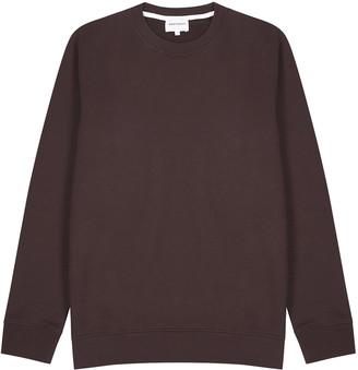 Norse Projects Vagn dark brown cotton sweatshirt