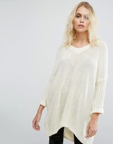 Noisy May Deep V-Neck Oversize Knit Sweater
