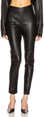 GRLFRND Maci Leather Legging in Black | FWRD