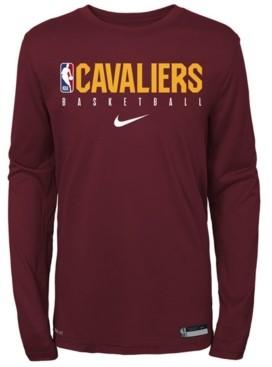 Nike Big Boys Cleveland Cavaliers Practice Long Sleeve T-Shirt