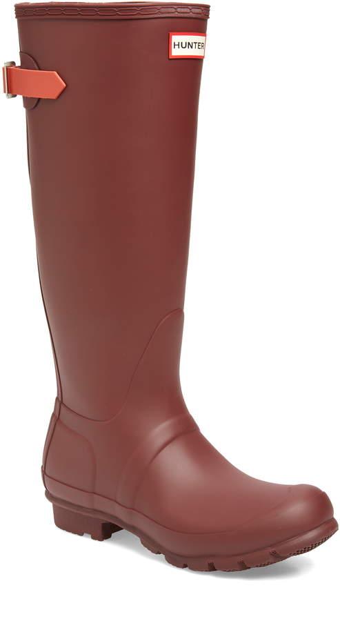 Hunter Tall Adjustable Back Waterproof Rain Boot