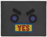 Fendi Grey 'Fendi Faces Yes' Card Holder