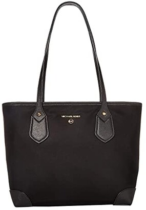 MICHAEL Michael Kors Eva Small Top Zip Tote (Black) Handbags