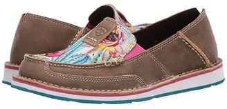 Ariat Cruiser (Brown Bomber/Floral Cactus Print) Women's Slip on Shoes