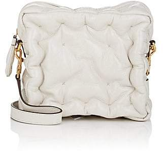 Anya Hindmarch Women's Chubby Patent Leather Crossbody Bag - White