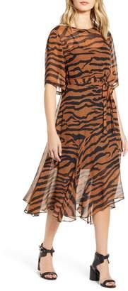 AllSaints Enki Zephyr Tiger Stripe Dress