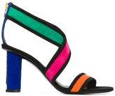 Balmain Aska sandals - women - Leather/Velvet - 36