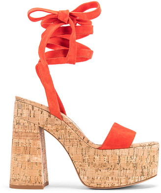 Gianvito Rossi Strappy Platform Sandals in California & Natural | FWRD