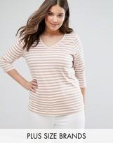 Junarose Stripe V Neck T-Shirt