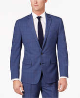 Ryan Seacrest Distinction Ryan Seacrest DistinctionTM Men's Slim-Fit Blue Herringbone Plaid Suit Jacket, Only at Macy's