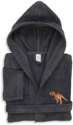 Asstd National Brand Linum Kids 100% Turkish Cotton Hooded Terry Bathrobe - Dino