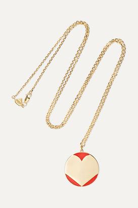 Alison Lou Amour 14-karat Gold And Enamel Necklace - one size