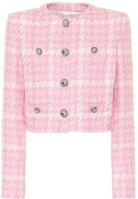 Alessandra Rich Checked tweed jacket