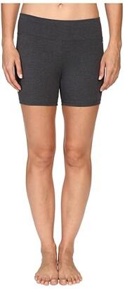 Jockey Active Bike Short w/ Wide Waistband (Charcoal) Women's Shorts